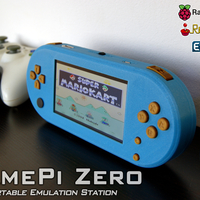 Small GamePi Zero - The Portable Emulation Console 3D Printing 200200