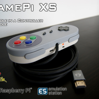 Small GamePi XS - The Plug'n'Play Emulation Console 3D Printing 200212