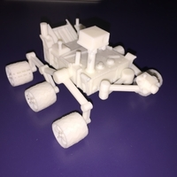 Small Curiosity Rover 3D 3D Printing 200227