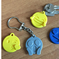 Small Emoji faces keychain 3D Printing 200295