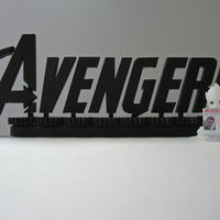 Small Avengers Rotating Logo 3D Printing 200317
