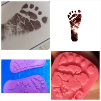 Small Baby Footprint Template 3D Printing 20033