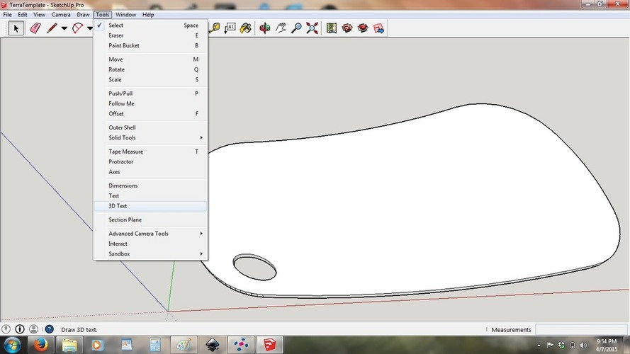 Baby Footprint Template 3D Print 20038