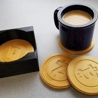 Small Crypto Coasters and Caddy 3D Printing 200420