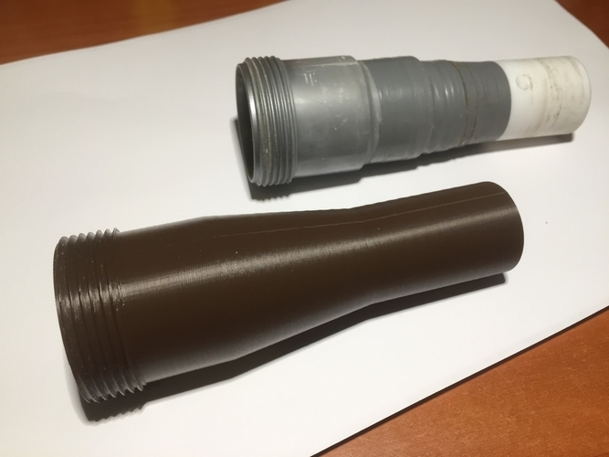 Conical exhaust pipe 44-31-h135 - 1 1/2 thread 3D Print 200444