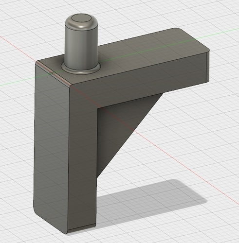 To support L - shaped pegs - diameter pin 5mm 3D Print 200478