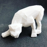 Small LowPoly Pantera Art Sculpture 3D Printing 200501