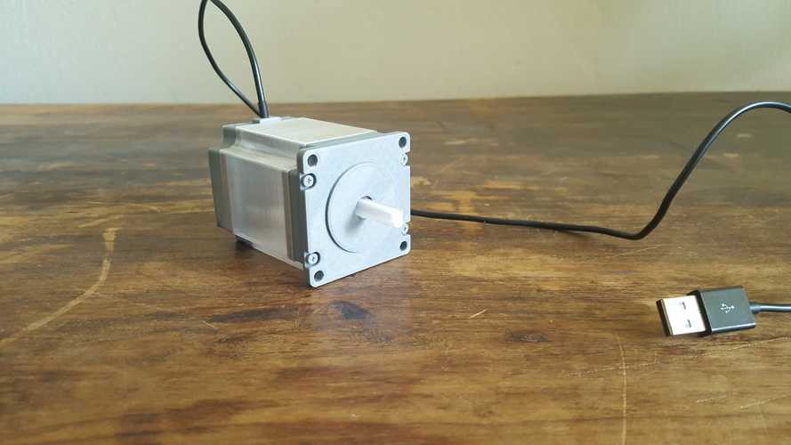 ​Nema 23 Stepper Motor Lamp 3D Print 200556