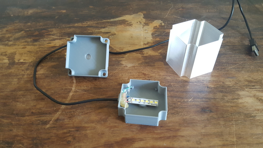 ​Nema 23 Stepper Motor Lamp 3D Print 200558