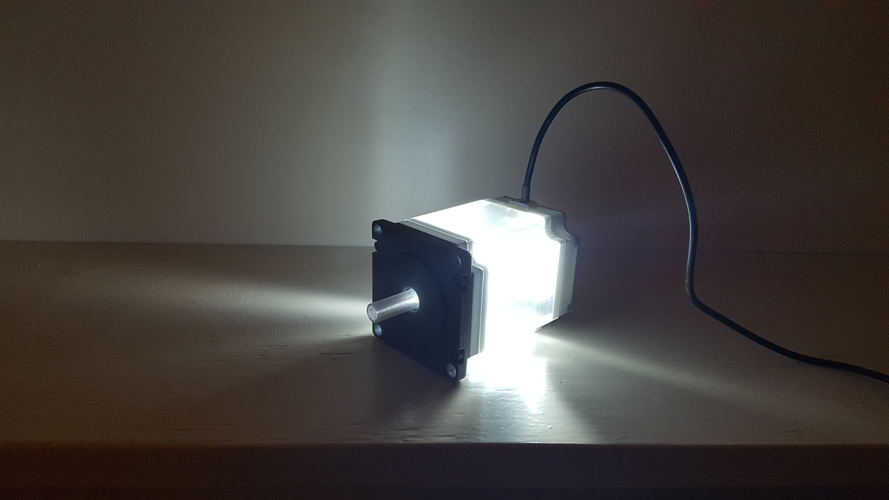 ​Nema 23 Stepper Motor Lamp 3D Print 200561