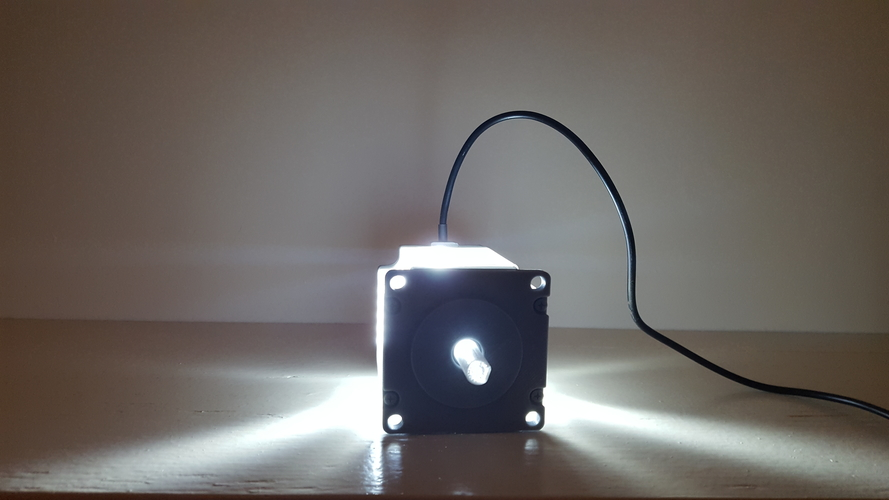 ​Nema 23 Stepper Motor Lamp 3D Print 200562