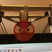 Small devil emoji cam cover 3D Printing 200570