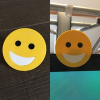 Small emoji smile cam cover 3D Printing 200575
