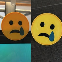 Small emoji sad cam cover 3D Printing 200578