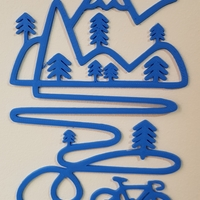 Small 2Dmountain cycle design 3D Printing 200611