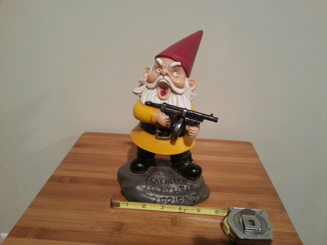 Angry Armed Gnome Scan Test 3D Print 20073