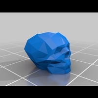 Small Low Poly Skull Paracord Bead V2 3D Printing 200767
