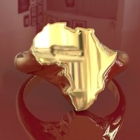 Small Africa men's ring  3D Printing 200772