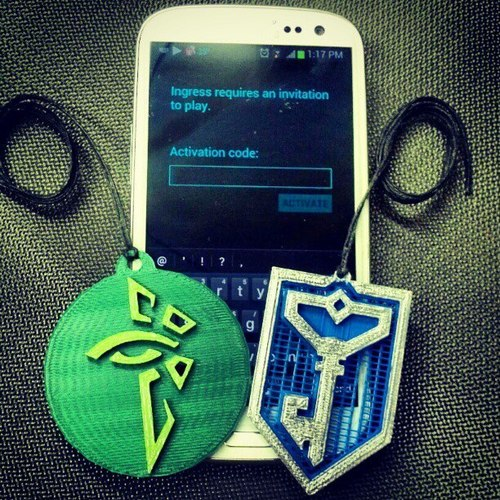 Ingress Faction Badges 3D Print 20084