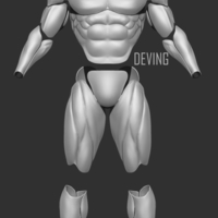 Small  Batman muscle body for Muscle Suit Cosplay-v3 3D print model 3D Printing 200911
