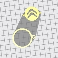 Small Citroen Keychain spinner 3D Printing 201042
