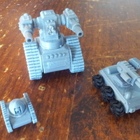 Small Battle Drones for Tabletop Gaming. 3D Printing 201070