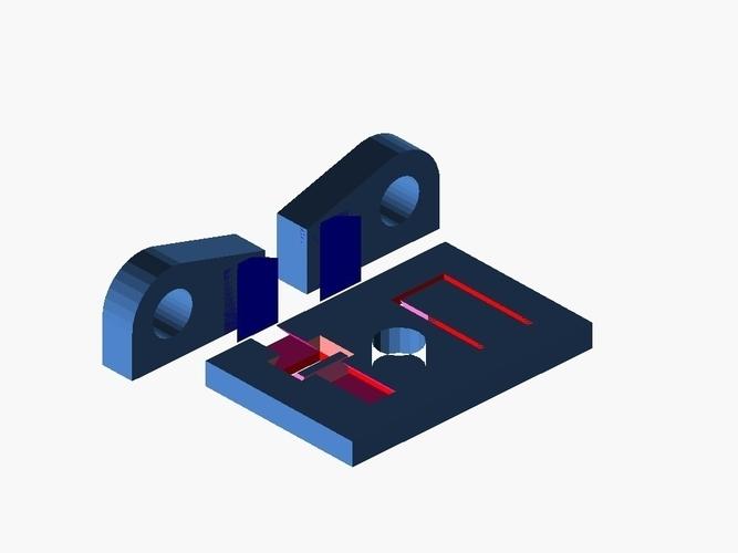 3D Printed openscad-slide-n-snap by benjamin-edward-morgan