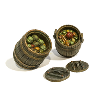 Small HG3D - Kitchen Barrels - Raghaven Collection - 28mm 3D Printing 201281