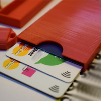 Small Credit cards case/holder wallet 3D Printing 201310