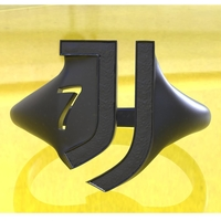 Small Juventus fan ring  3D Printing 201355