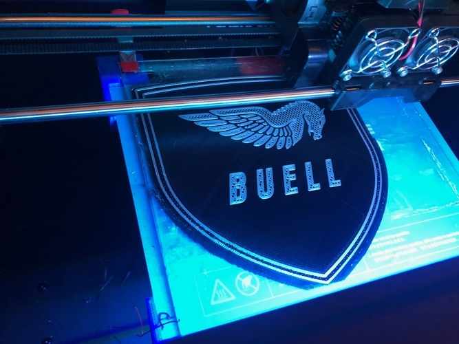Buell American Motorcycles Pegasus Logo Sign 3D Print 201404