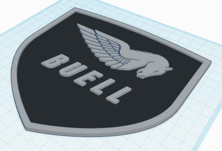 Buell American Motorcycles Pegasus Logo Sign 3D Print 201406