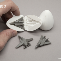 Small Surprise Egg #6 - Tiny Jet Fighter 3D Printing 201413