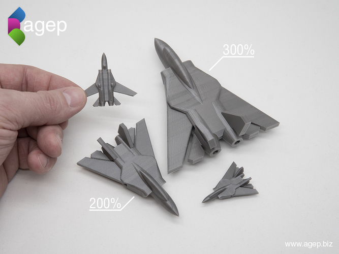 Surprise Egg #6 - Tiny Jet Fighter 3D Print 201416