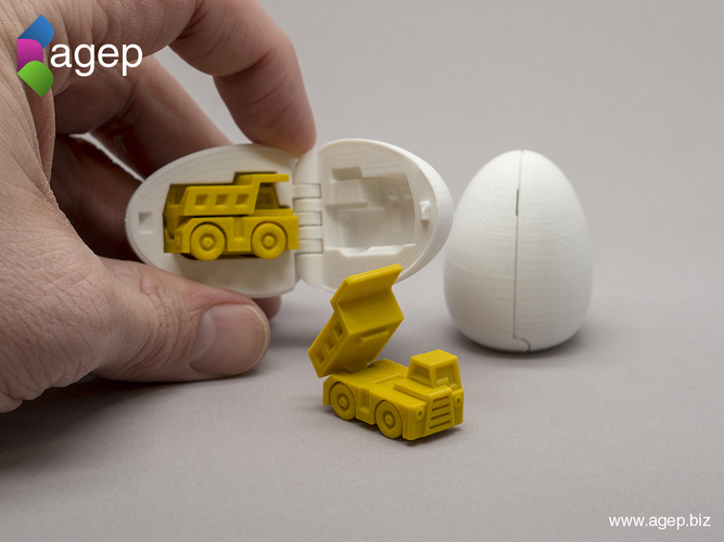 Surprise Egg #1 - Tiny Haul Truck 3D Print 201422