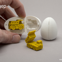Small Surprise Egg #1 - Tiny Haul Truck 3D Printing 201422