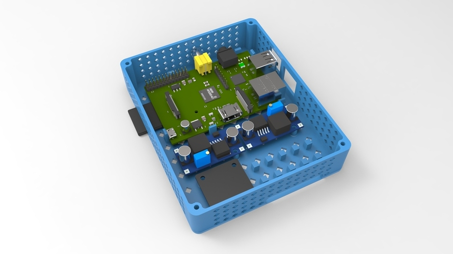 3D Printed Electronics box for 3d printer by emilhallengren