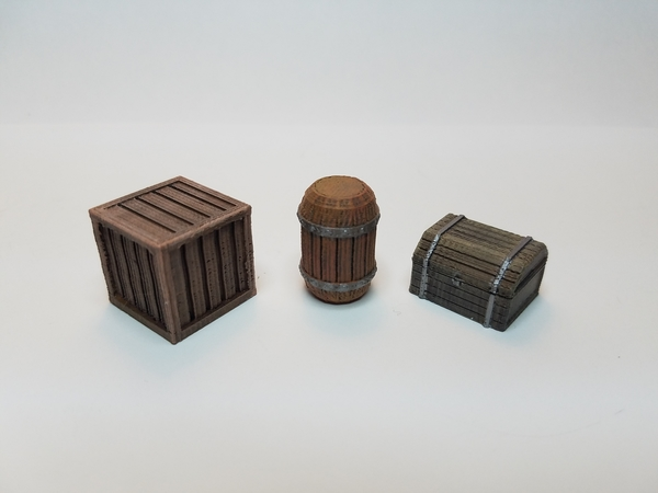 Medium Tabletop Terrain - Wooden Storage 3D Printing 201520