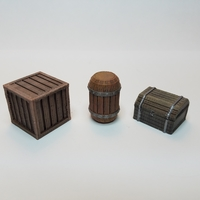 Small Tabletop Terrain - Wooden Storage 3D Printing 201520