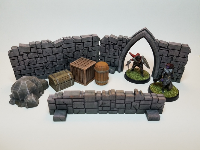 Tabletop Terrain - Wooden Storage 3D Print 201521