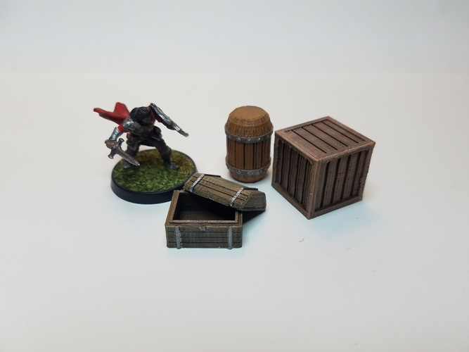 Tabletop Terrain - Wooden Storage 3D Print 201522