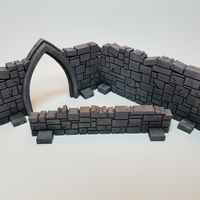 Small Tabletop Terrain - Stone Walls 3D Printing 201524