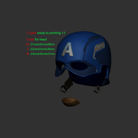 Small Captain Helmet 3D Printing 201565