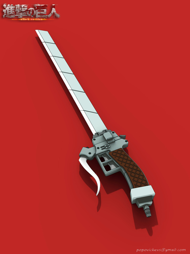 "Anime sword ""Attack on Titan"" 3D Print 201591"
