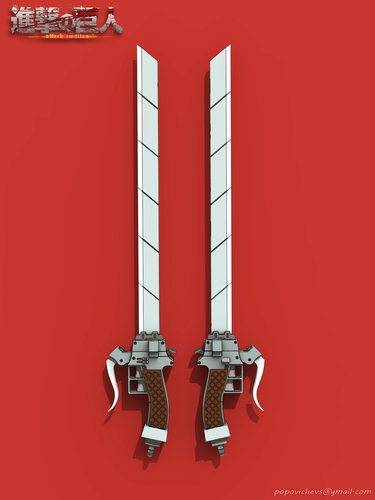 "Sword Anime ""Attack on Titan"" 3D Print 201592"