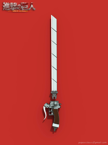"Anime sword ""Attack on Titan"" 3D Print 201593"
