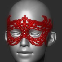 Small Bad Girl Mask 3D Printing 20163