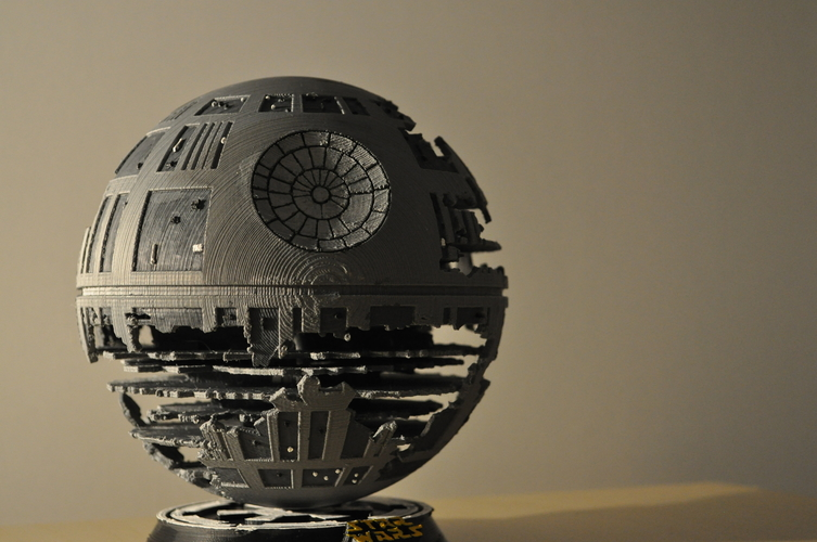 Death Star (HQ model + Lamp) May4th offer 3D Print 201709