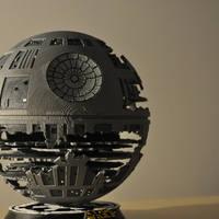 Small Death Star (HQ model + Lamp) May4th offer 3D Printing 201709