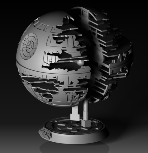 Death Star (HQ model + Lamp) May4th offer 3D Print 201710